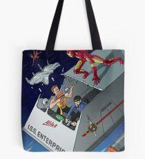 Iron Man vs Mirror Trek Tote Bag