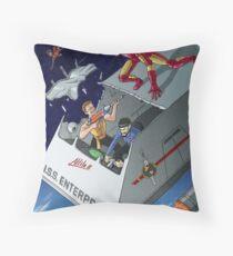 Iron Man vs Mirror Trek Throw Pillow