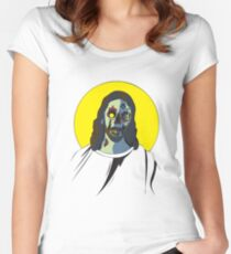 Zombie Jesus [without text] Women's Fitted Scoop T-Shirt