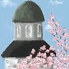 Dome and Cherry Blossoms by Sarah Countiss