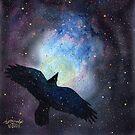 Crow Nebula by artbyakiko