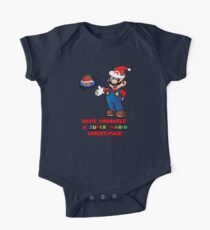 Super Mario Christmas One Piece - Short Sleeve