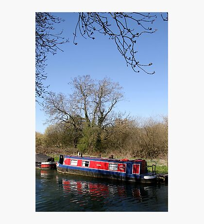 Narrow Boat In Spring Photographic Print