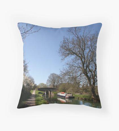 Bridge Near Bedwin - Kennet and Avon Canal Throw Pillow