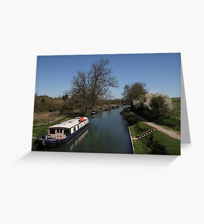 View From A Bridge - Kennet and Avon Canal Greeting Card