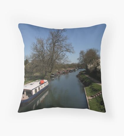 View From A Bridge - Kennet and Avon Canal Throw Pillow