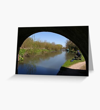 Quiet Fishing Spot - Kennet and Avon Canal Greeting Card