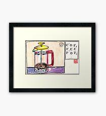 EDiM #8  draw a coffeepot Framed Print