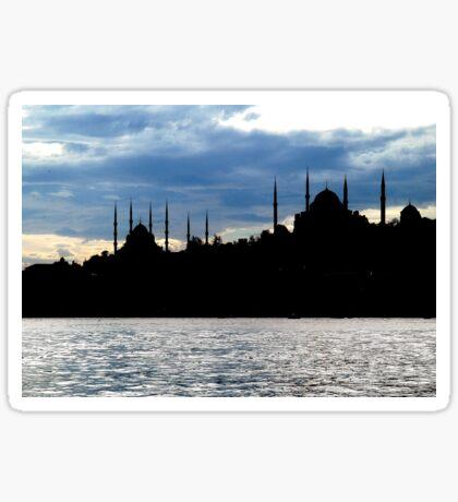 Sultanahmet Camii Skyline Istanbul Turkey Sticker
