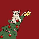 Cat In A Christmas Tree by wallcat