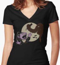 Snuffy The Vampire Slayer Women's Fitted V-Neck T-Shirt