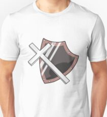 Cross and Shield Graphic Unisex T-Shirt