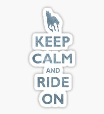 Keep Calm and Ride On Horseback Riding Sticker