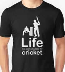 Cricket v Life - Carbon Fibre Finish Unisex T-Shirt