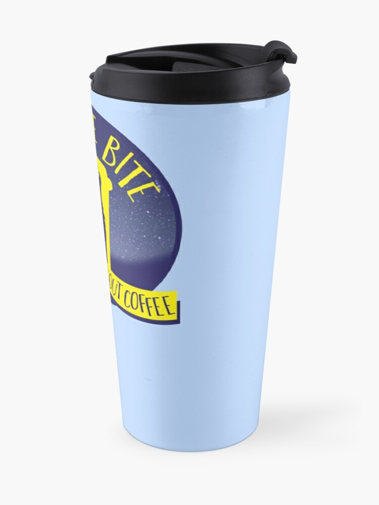 Alternate view of A LITTLE BITE CAFE We're WILD about coffee (funny shifter quote) Travel Mug