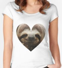 Sloth Love Women's Fitted Scoop T-Shirt