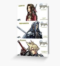1ST ANNIVERSARY OF DISSIDIA 012 REPORTS 2 Greeting Card