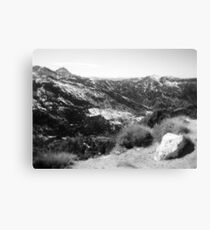 Mountain View in Black and White Canvas Print