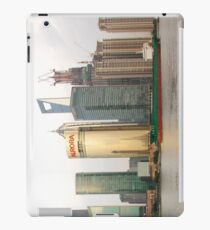 Shanghai cityscape with ocean liner iPad Case/Skin