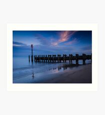 Bridlington Groyne North Bay Art Print