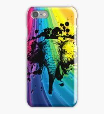 Charging Bull Elephant on Rainbow iPhone Case/Skin