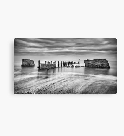 Beach Defences Canvas Print