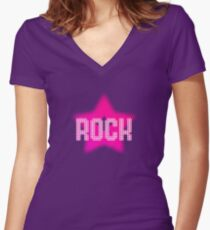 Rock Star Women's Fitted V-Neck T-Shirt