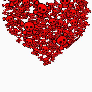 Cute Emo Skull Heart by rawrclothing