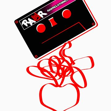 Retro Cassette Tape Love by rawrclothing
