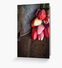Fresh Cut Spring Tulips Greeting Card