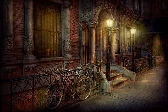 Bike - NY - Greenwich Village - In the village  by Michael Savad