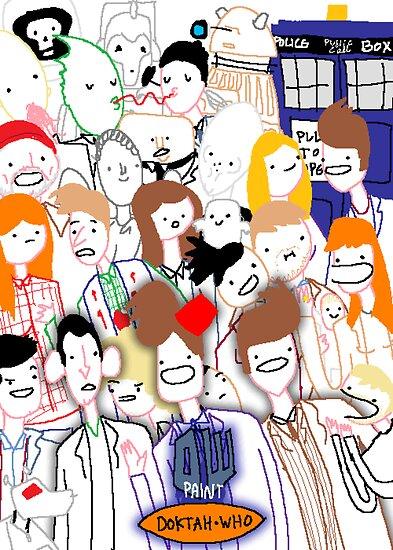 Paint Doktah Who Poster by HairandGlasses