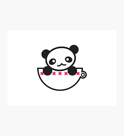 Panda Cup Photographic Print