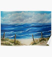 Fanore Beach, County Clare - oil painting Poster