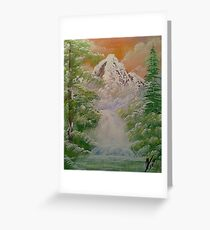 The Mountain Snow Greeting Card