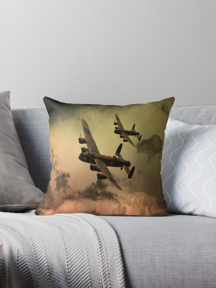 Lancaster Fire In The Sky by Airpower Art