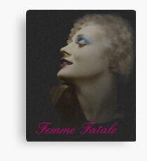 Silent Actress Canvas Print