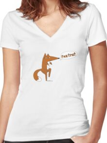 foxtrot Women's Fitted V-Neck T-Shirt