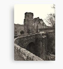 Rosslyn Castle, Midlothian, Scotland.  Canvas Print