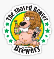 Shaved Beaver Brewery Sticker