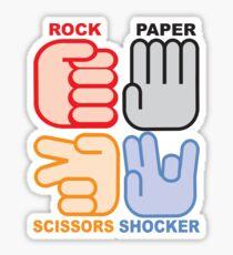 Rock Paper Scissors Shocker Sticker
