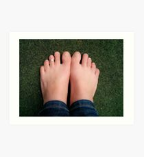 Bare feet Art Print
