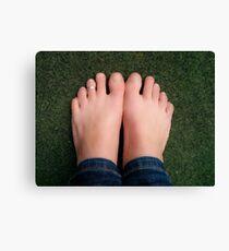 Bare feet Canvas Print