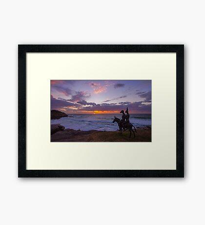 Enjoying the Sunrise Framed Print