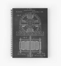 Tesla Coil Patent Art Spiral Notebook
