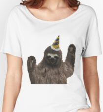 Party Animal - Sloth Women's Relaxed Fit T-Shirt