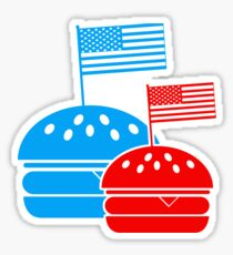 4th July American Burgers Sticker
