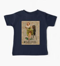 Pin Up Girl Making #selfie Vintage Dictionary Art Baby Tee