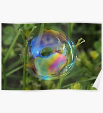 Bubble in the Grass Poster