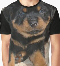 Rottweiler Puppy With Perplexed Facial Expression Graphic T-Shirt